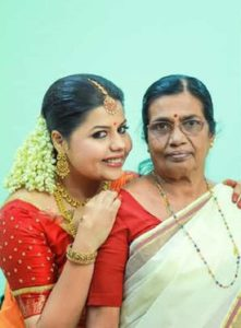Sneha with her mother