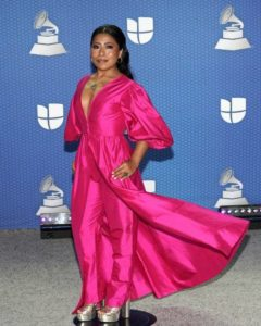 Yalitza posing for a picture